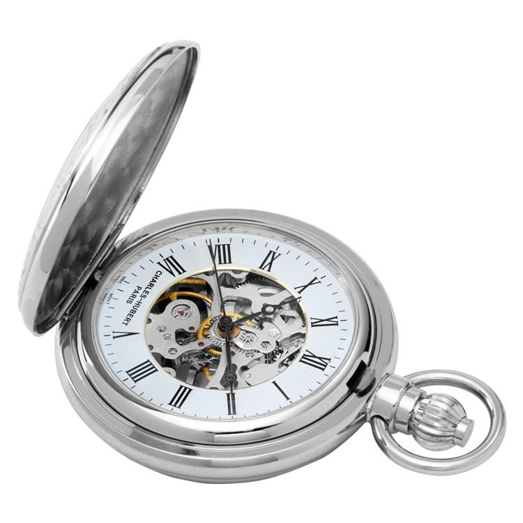 Chrome Mechanical Pocket Watch