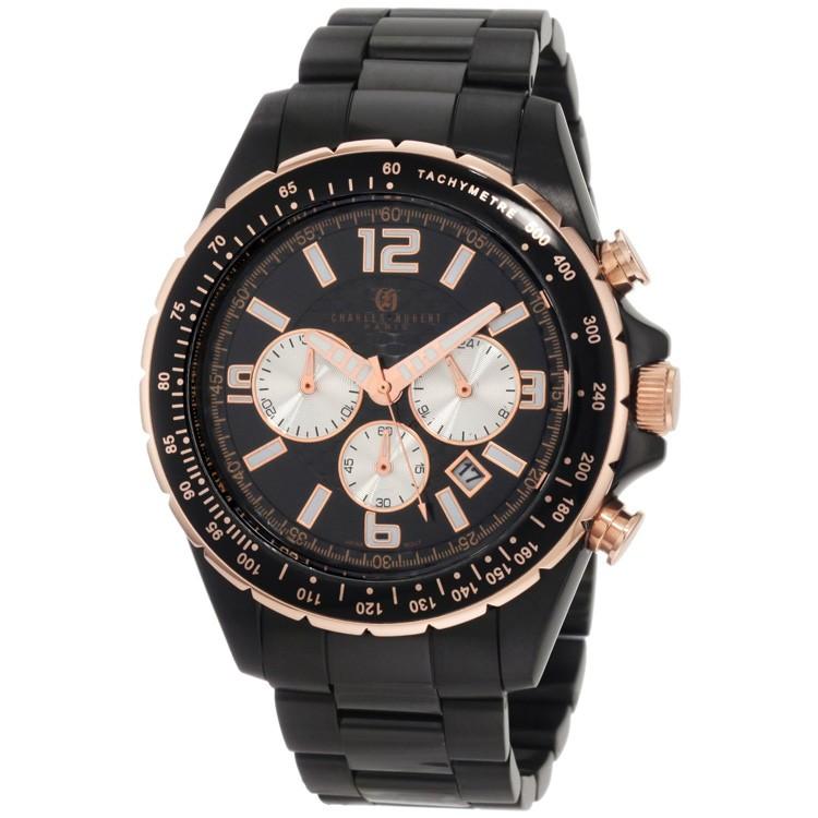 Charles-Hubert Men's Stainless Steel Chronograph Watch #3891-B