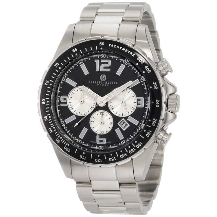 Charles-Hubert Men's Stainless Steel Chronograph Watch #3891-W
