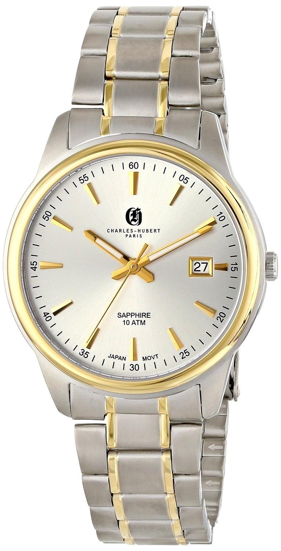 Charles-Hubert Paris Men's Two-Tone Titanium Quartz Watch