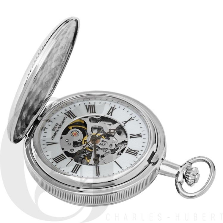 Double Hunter Case Mechanical Pocket Watch