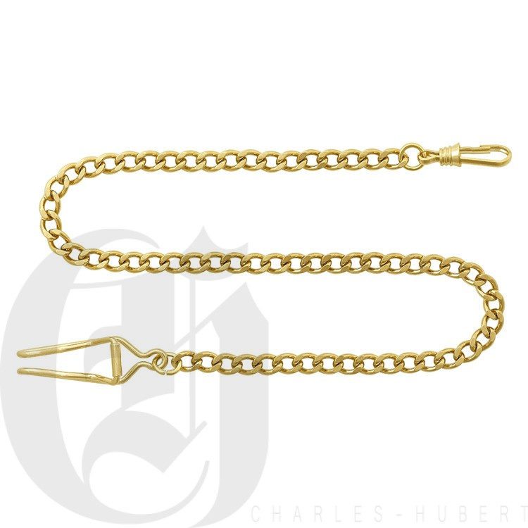 Gold-Plated Pocket Watch Chain