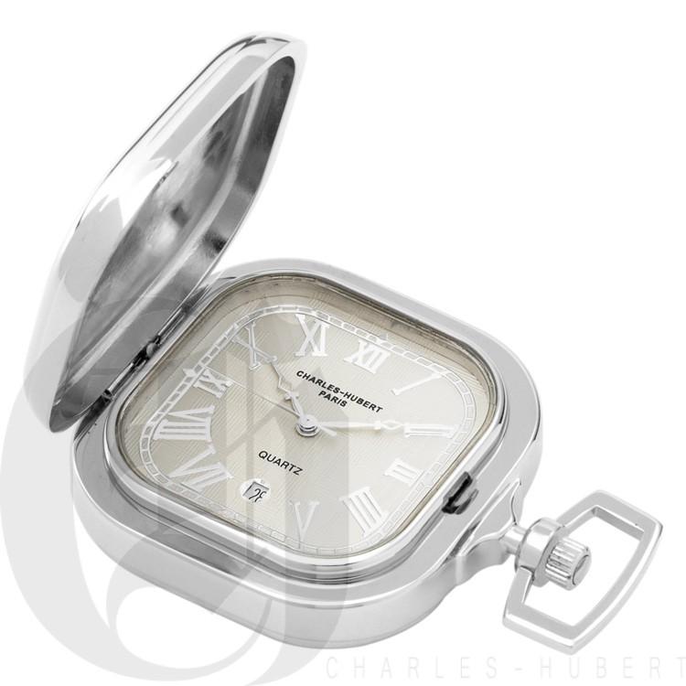 Two-Tone Hunter Case Quartz Pocket Watch