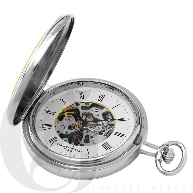 Two-Tone Hunter Case Mechanical Pocket Watch
