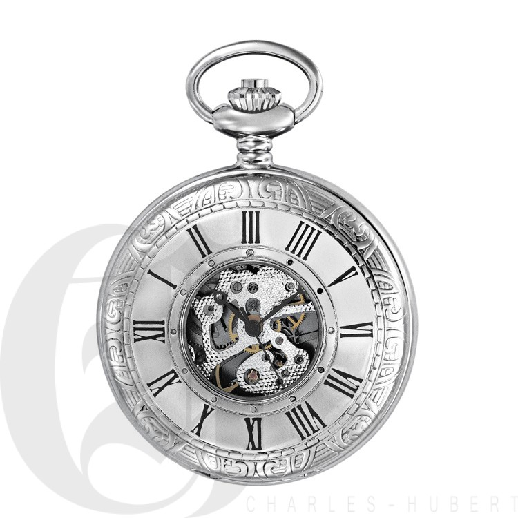 Demi Hunter Case Mechanical Pocket Watch
