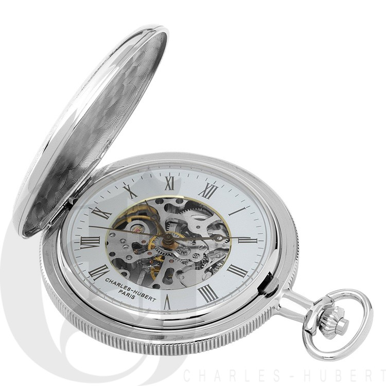Two-Tone Hunter Case Mechanical Pocket Watch