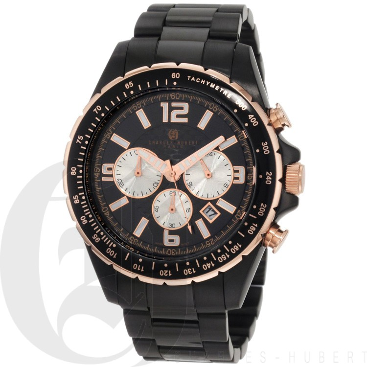 Charles-Hubert Men's Stainless Steel Chronograph Watch #3891-B
