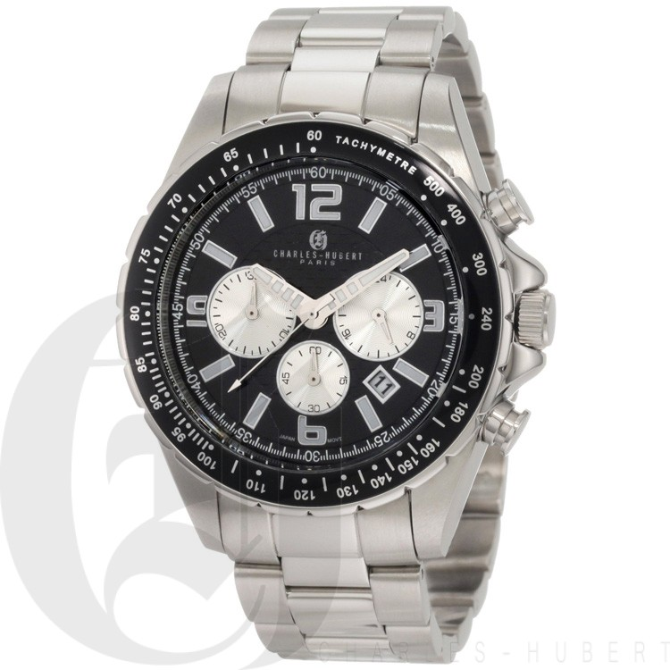 Charles-Hubert Men's Stainless Steel Chronograph Watch #3891-W