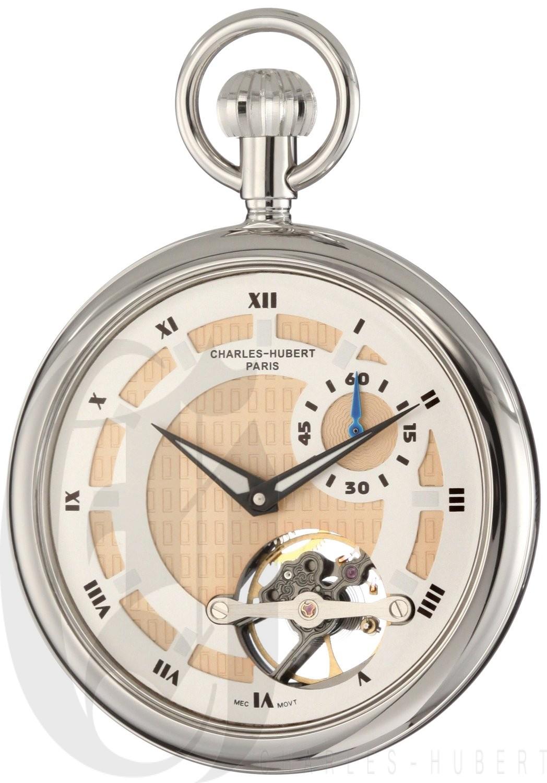 Charles-Hubert Paris Open Face Mechanical Pocket Watch