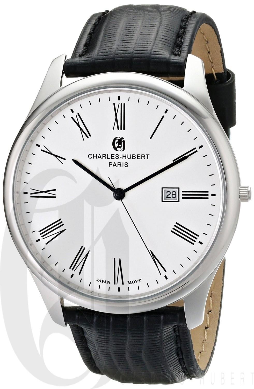 Charles-Hubert Paris Men's Stainless Steel Quartz Watch