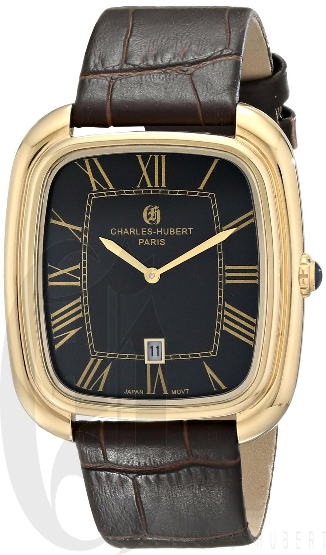 Charles-Hubert Paris Men's Gold-Plated Stainless Steel Quartz Watch