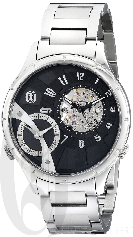 Charles-Hubert Paris Men's Stainless Steel Dual Time Mechanical and Quartz Watch