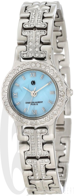 Charles-Hubert Paris Women's Quartz Watch with 4 Interchangeable Bezels