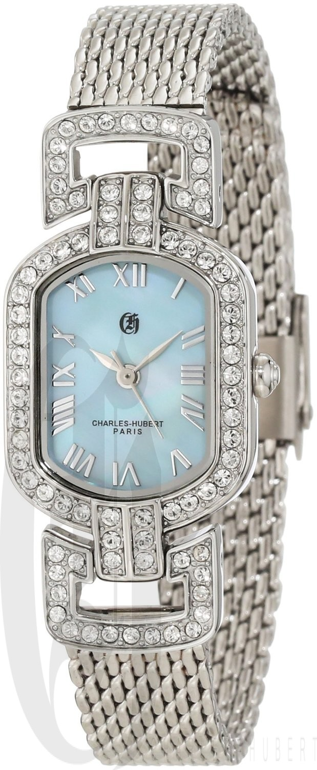 Charles-Hubert Paris Women's Chrome Finish Quartz Watch