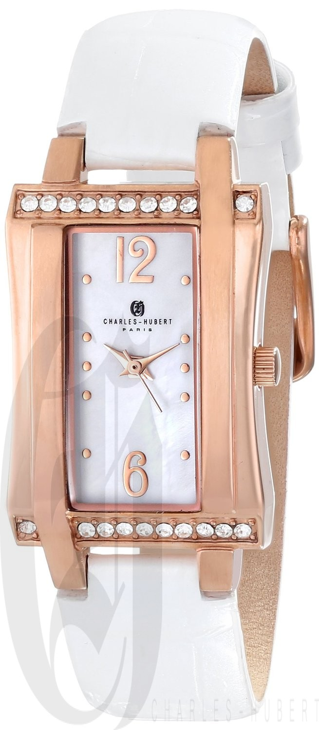 Charles-Hubert Paris Women's Rose-Gold Plated Stainless Steel Quartz Watch