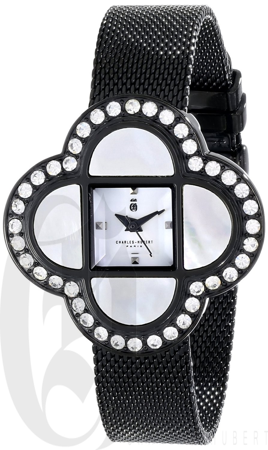 Charles-Hubert Paris Women's Black Plated Stainless Steel Quartz Watch