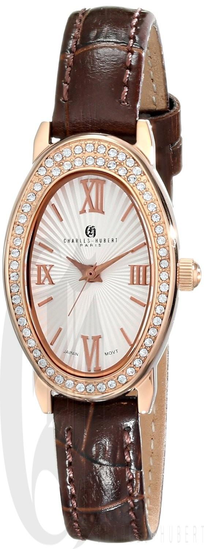 Charles-Hubert Paris Women's Rose-Gold Plated Stainless Steel Quartz Watch