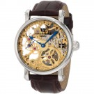Charles-Hubert Men's Stainless Steel Skeleton Dial Mechanical Watch #3887-A