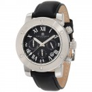 Charles-Hubert Men's Stainless Steel Black Dial Chronograph Watch #3893-W