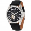 Charles-Hubert Men's Stainless Steel Black Dial Automatic Watch #3894-B