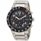 Charles-Hubert Men's Stainless Steel Black Dial Chronograph Watch #3896-W