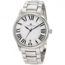 Charles-Hubert Men's Stainless Steel White Dial Quartz Watch #3897-W