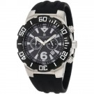 Charles-Hubert Men's Stainless Steel Black Dial Chronograph Watch #3898-B