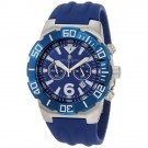Charles-Hubert Men's Stainless Steel Blue Dial Chronograph Watch #3898-E