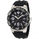 Charles-Hubert Men's Stainless Steel Black Dial Quartz Watch #3899-B