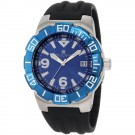 Charles-Hubert Men's Stainless Steel Blue Dial Quartz Watch #3899-BE