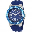 Charles-Hubert Men's Stainless Steel Blue Dial Quartz Watch #3899-E