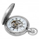 Chrome Mechanical Pocket Watch