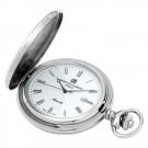Stainless Steel Hunter Case Quartz Pocket Watch