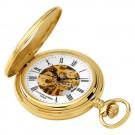 Gold-Plated Demi Hunter Case Mechanical Pocket Watch