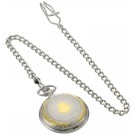 Charles-Hubert Paris Two-Tone Finish Hunter Case Quartz Pocket Watch
