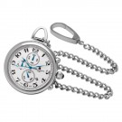 Stainless Steel Polished Finish Open Face Quartz Pocket Watch