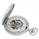 Brushed Finish Hunter Case Mechanical Pocket Watch