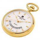 Gold-Plated Open Face Quartz Pocket Watch