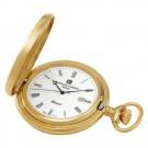 Gold-Plated Hunter Case Quartz Pocket Watch