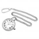 Stainless Steel Open Face Quartz Pocket Watch