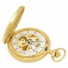 Gold-Plated Demi Hunter Case Mechanical Pocket Watch