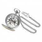 Two-Tone Double Hunter Case Mechanical Pocket Watch