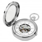 Polished Finish Hunter Case Picture Frame Mechanical Pocket Watch