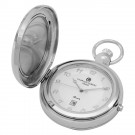 Polished Finish Hunter Case Picture Frame Quartz Pocket Watch