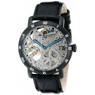 Charles-Hubert Paris Men's Black Plated Stainless Steel Mechanical Watch