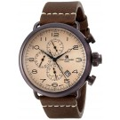 Charles-Hubert Paris Men's Brown Plated Stainless Steel Dual Time Quartz Watch