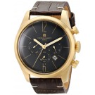 Charles-Hubert Paris Men's Gold-Plated Stainless Steel Dual Time Quartz Watch