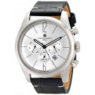 Charles-Hubert Paris Men's Stainless Steel Dual Time Quartz Watch