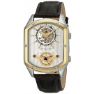 Charles-Hubert Paris Men's Two-Tone Stainless Steel Dual Time Mechanical and Quartz Watch