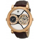 Charles-Hubert Paris Men's Rose-Gold Plated Stainless Steel Dual Time Mechanical and Quartz Watch